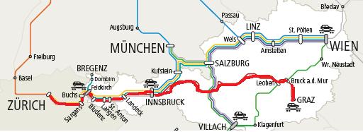 グラーツ-チューリッヒの運転系統