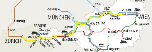 ウィーン-チュリッヒの運転系統