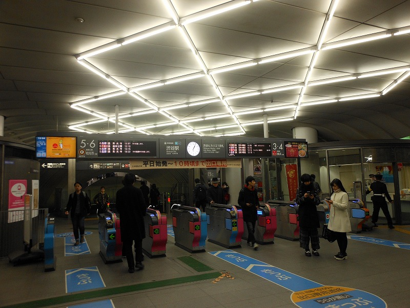 東横線渋谷の改札