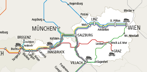 フィラッハ-フェルトキルヒ(路線図)