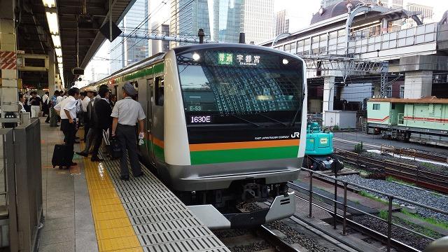 東京に停車中の宇都宮線