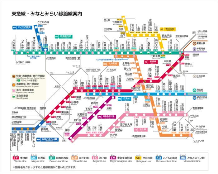 東急路線図