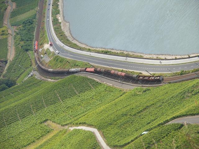 ボッパルト付近を行く貨物列車