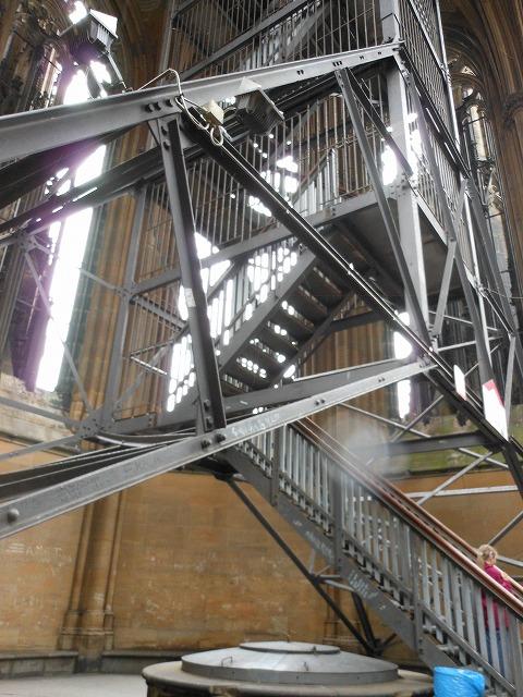 ケルン大聖堂の塔の登る階段