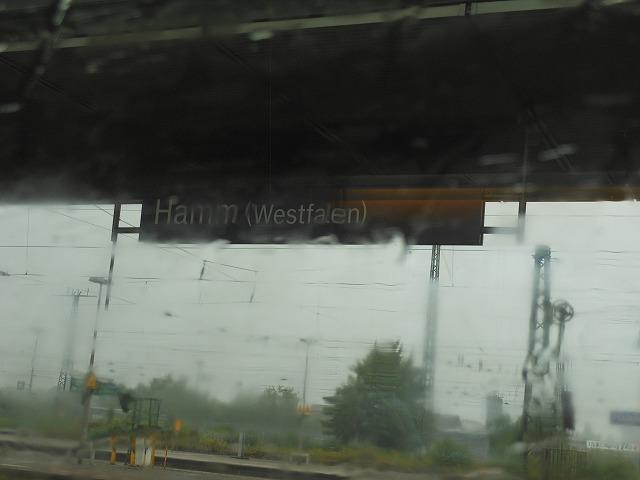 ハム駅で連結のため停車