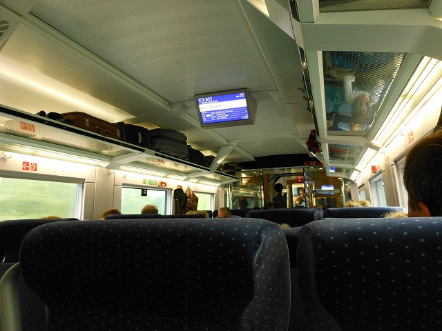 ICE855(ケルン→ベルリン)がベルリンに到着する直前の車内