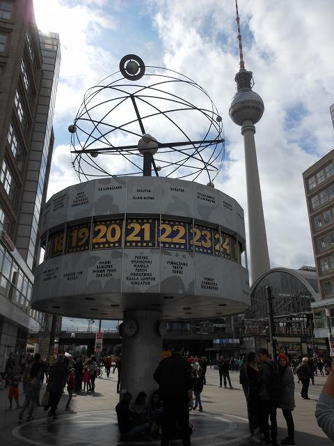 ベルリンテレビ塔と世界時計