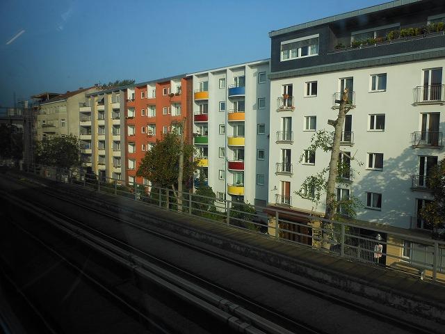 ベルリン近郊列車REから眺めるベルリン市内