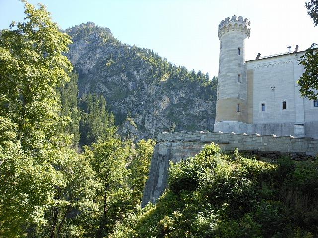 ノイシュバンシュタイン城の裏側