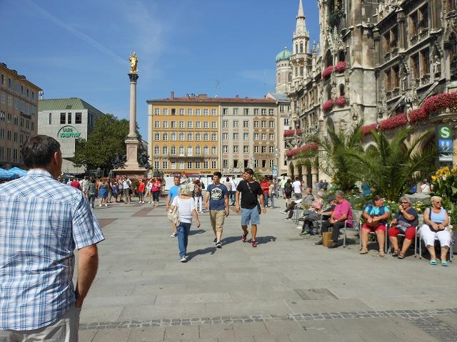 ミュンヘン新市庁舎前の景色
