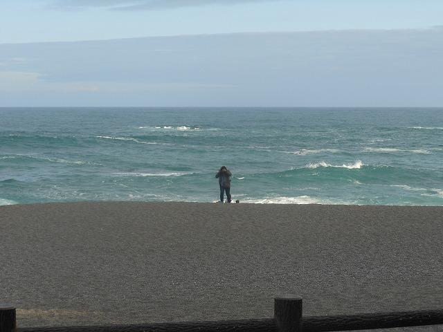 波が打ち付ける桂浜