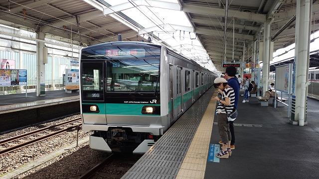 E233系による急行(小田急多摩センター)