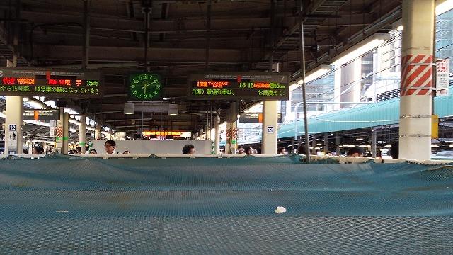 常磐線中電は上野で乗り換えるようにという表示