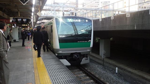 10号車が先頭の埼京線→りんかい線(大崎)