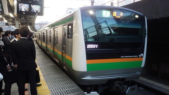 1号車が先頭の湘南新宿ライン逗子行き