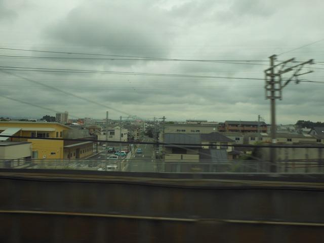 新幹線から眺める名古屋の住宅街