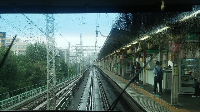 三河島:田端方面への線路が分岐