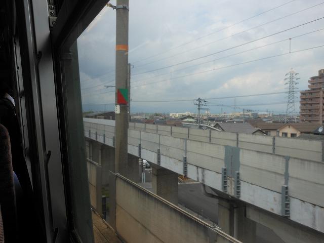 草津線車窓:東海道線への連絡線が分岐