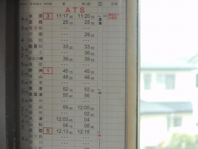 米原から京都までの時刻表