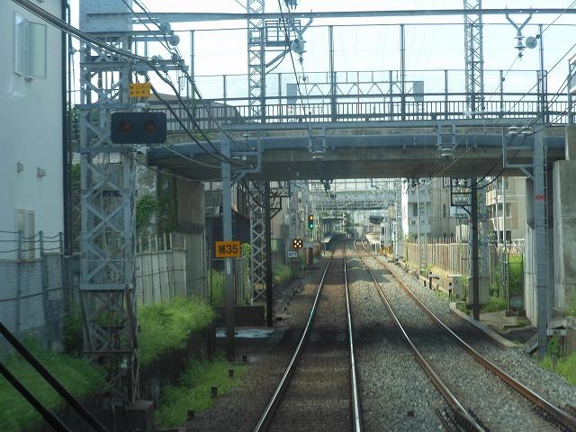 京阪前面展望:丹波橋に接近