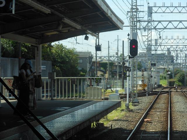 京阪前面展望:丹波橋停車中