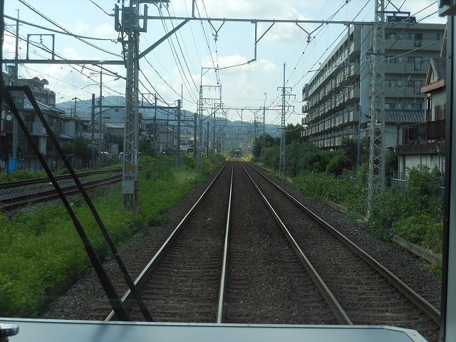 京阪宇治線前面展望:JR奈良線と並走