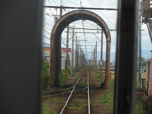 福井鉄道のポイント部分