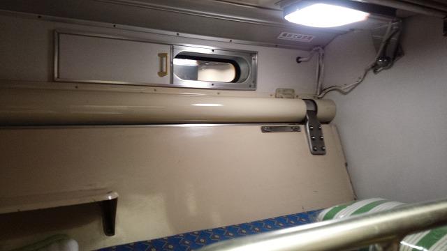 583系の寝台(上段)