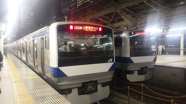 東京でのE531系並び