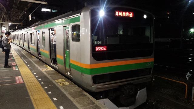高崎線列車上野