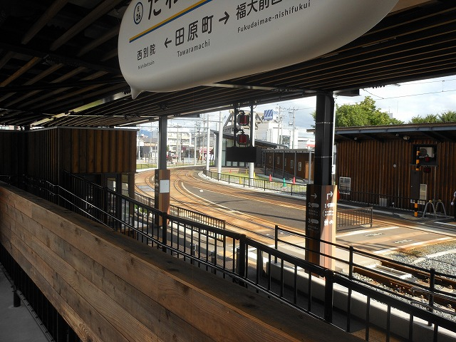 えちぜん鉄道から福井鉄道を眺める