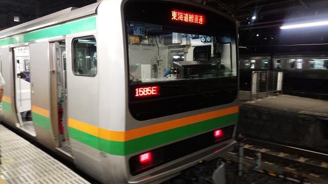 宇都宮線から東海道線へ向かう列車(上野)