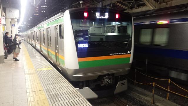 回送列車1672E