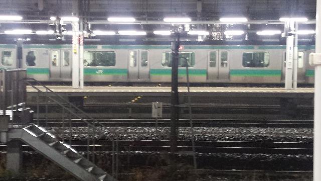 常磐線18:33発発車直前