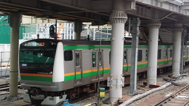 渋谷を発車する宇都宮線E233系
