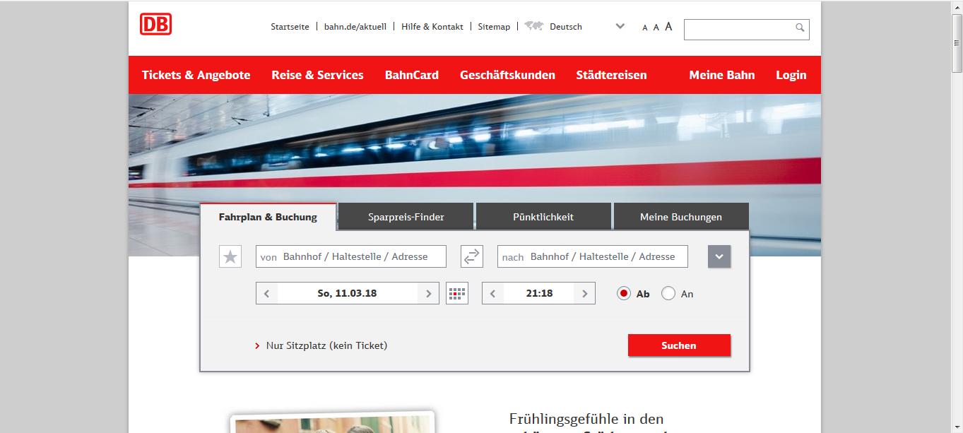 1. ドイツ鉄道HP