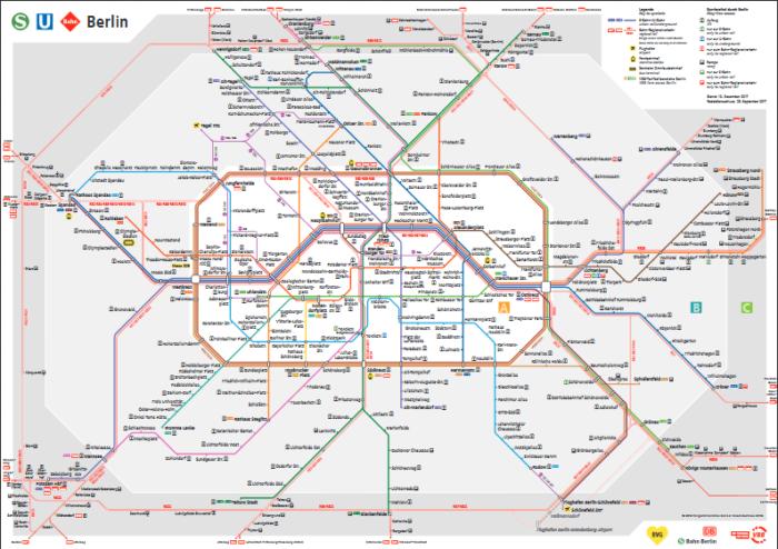 ベルリンSバーン路線図