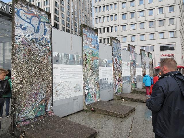 ポツダム広場のベルリンの壁のあと
