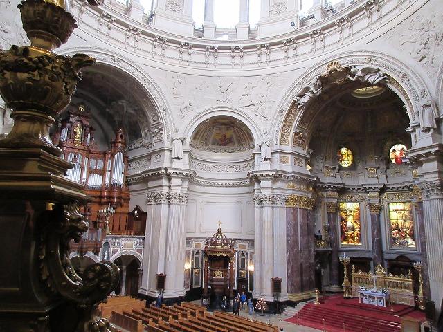 ベルリン大聖堂の素晴らしい内部
