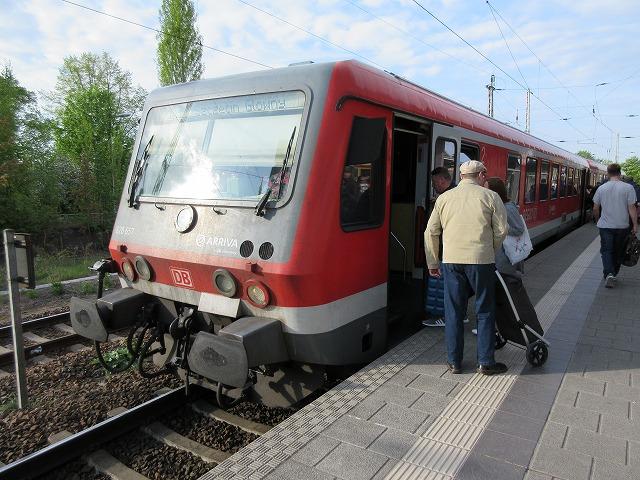 ベルリンからシュチェチンまで乗車した列車