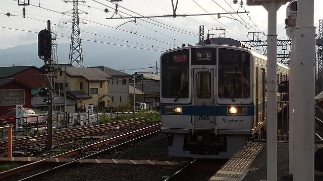 大手民鉄の種別の代表例:急行(新松田で撮影)