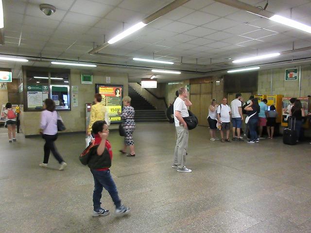 プラハ地下鉄の自動券売機