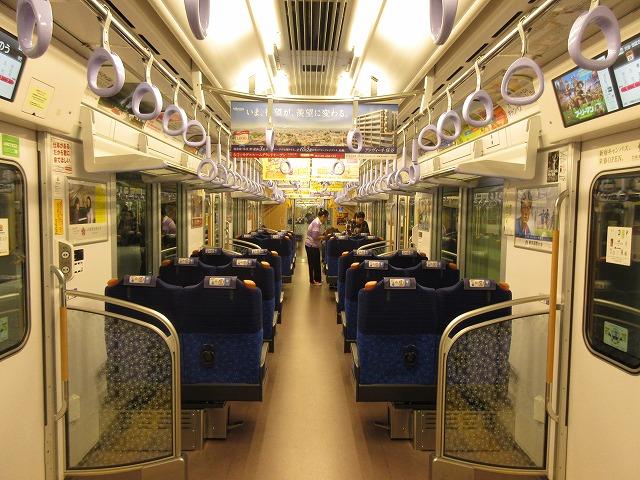 S-trainの車内
