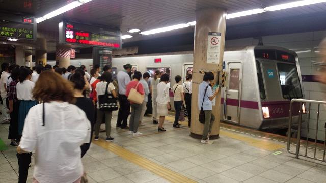 田園都市線渋谷の混雑