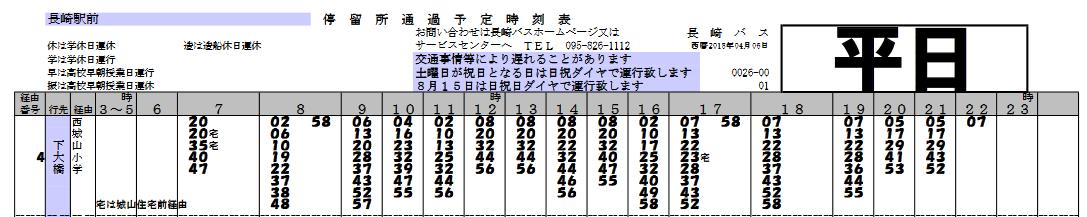 長崎バス 長崎駅前(平日)