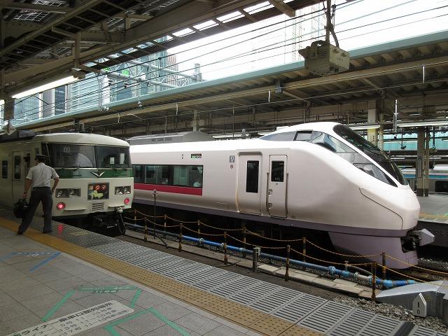 東京:踊り子とひたちの競演