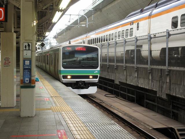 常磐線E231系、東京