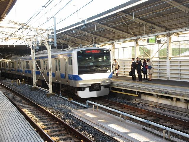 上野に進入するE531系