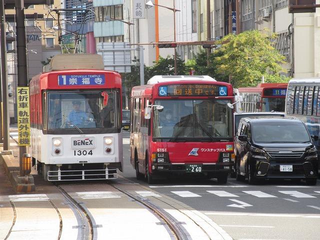 長崎路面電車:1系統の電車