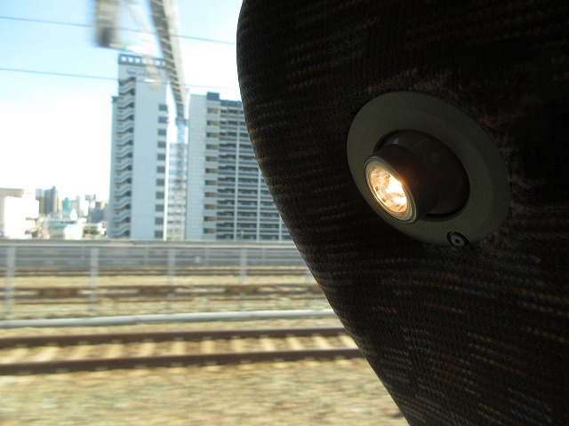 N700系のぞみの補助照明